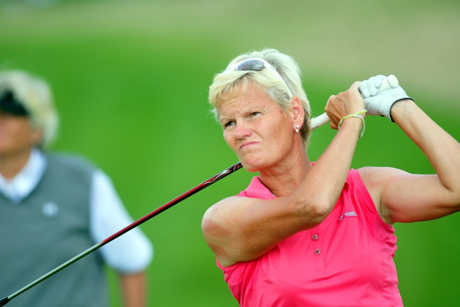 Trish Johnson and Laura Davies