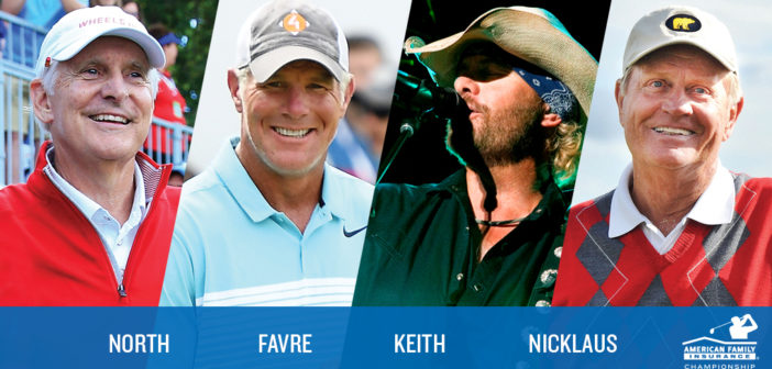 Jack Nicklaus Adds 'Golden Bear' Touch to The AmFam Champ Celebrity Foursome